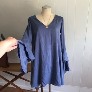 Lulus blue nwt dress size medium